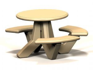 3 Seat Round Tables